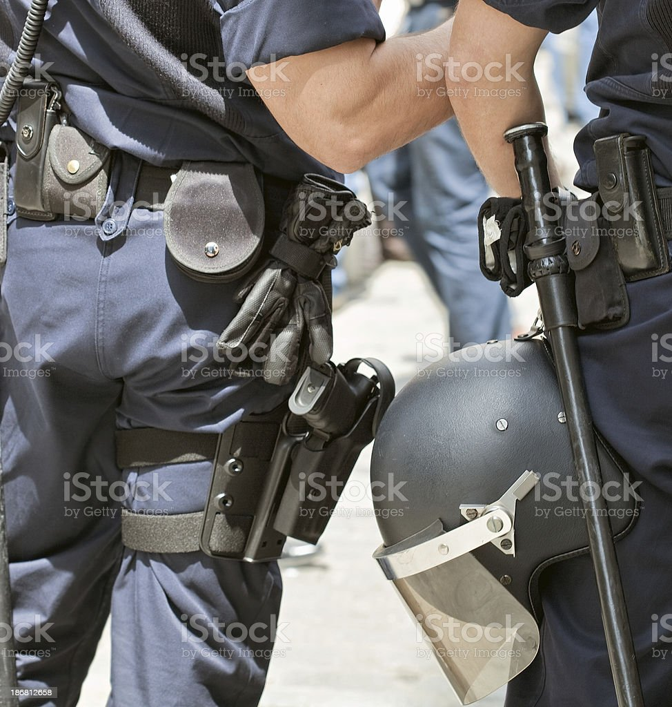 police weapons royalty-free stock photo