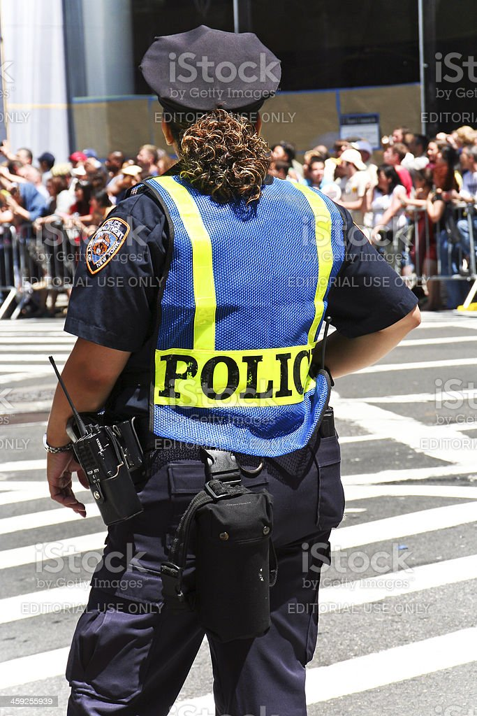 Police woman NYC royalty-free stock photo