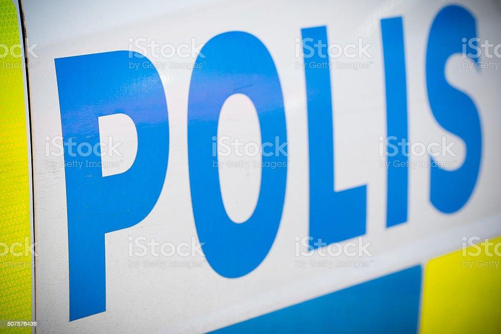 Policecar stock photo