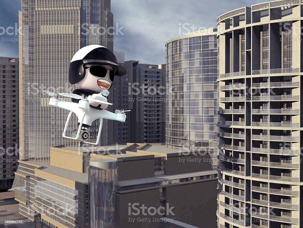 Policedrone. stock photo