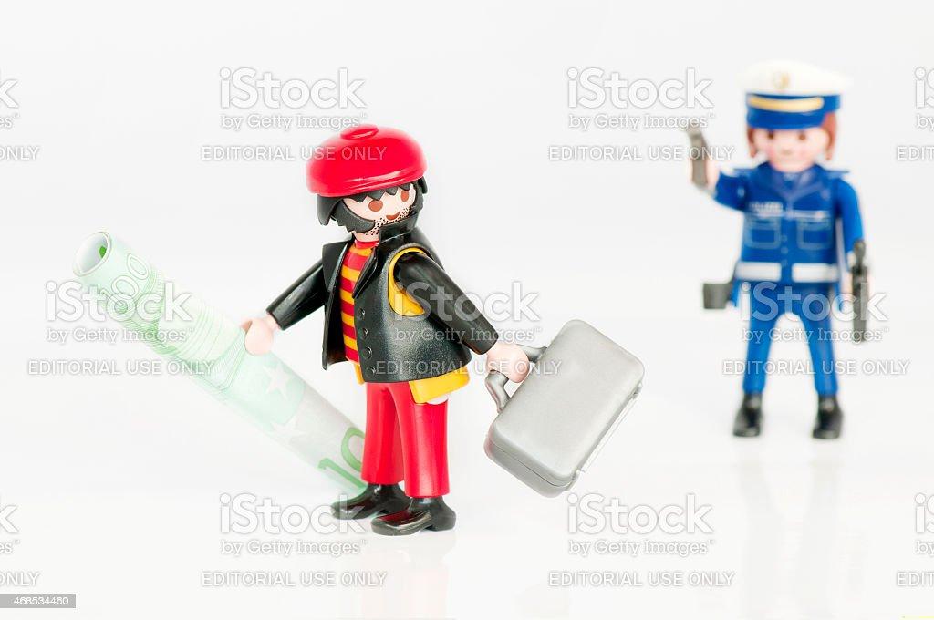 Policeman and Robber stock photo