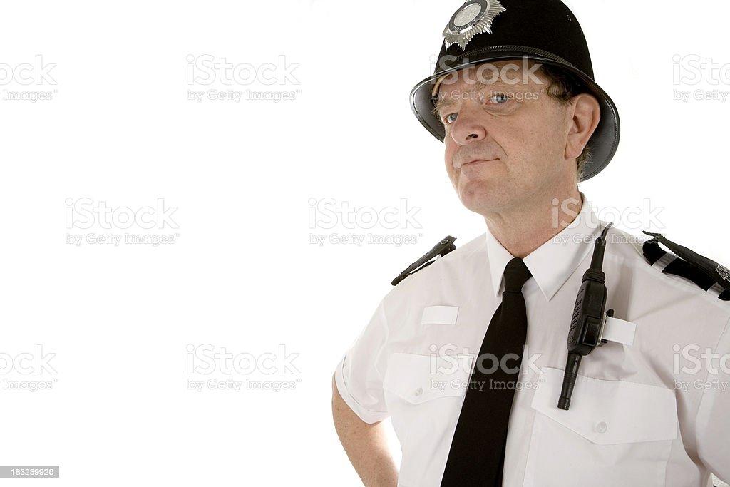 UK policeman: bobby on the beat royalty-free stock photo