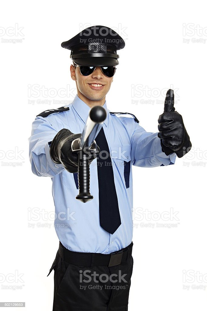 Policeman in uniform royalty-free stock photo