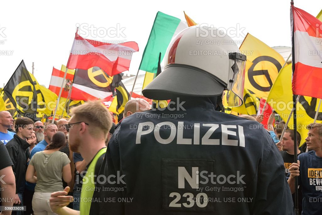 Policeman of special forces stock photo