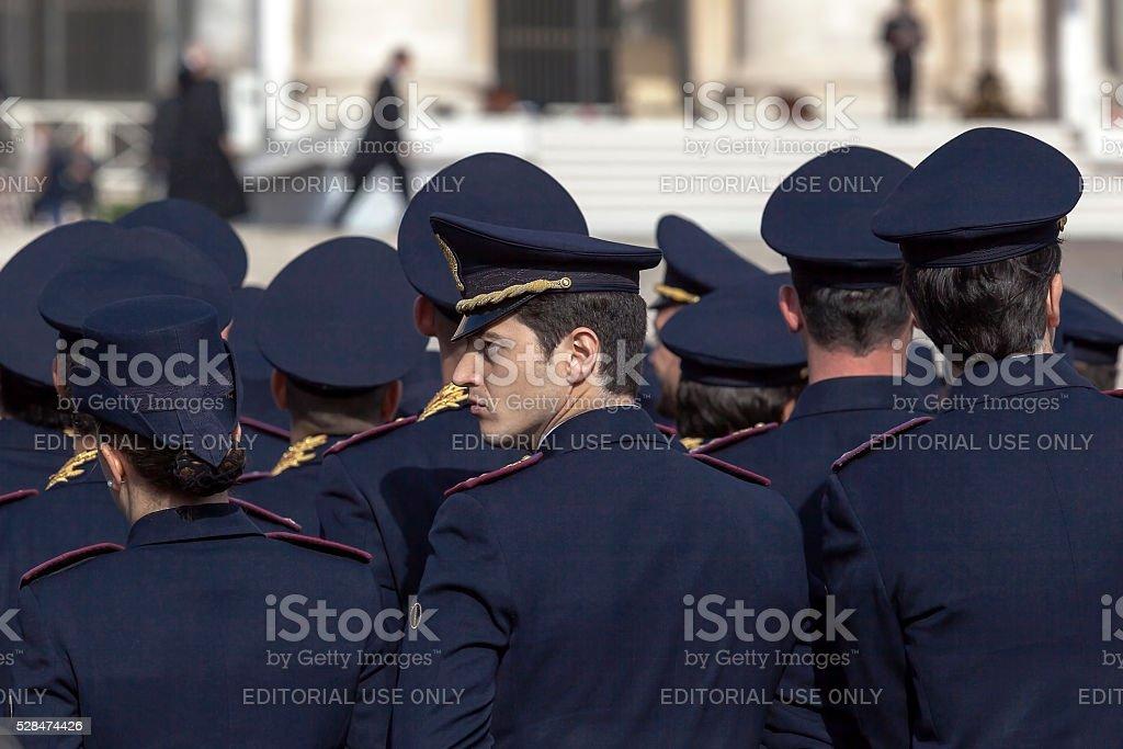 Policemen in full uniform stock photo