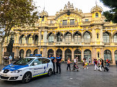 Policemen in Port Vell, Barcelona, Spain