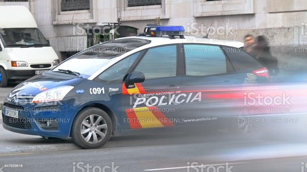 Policia stock photo
