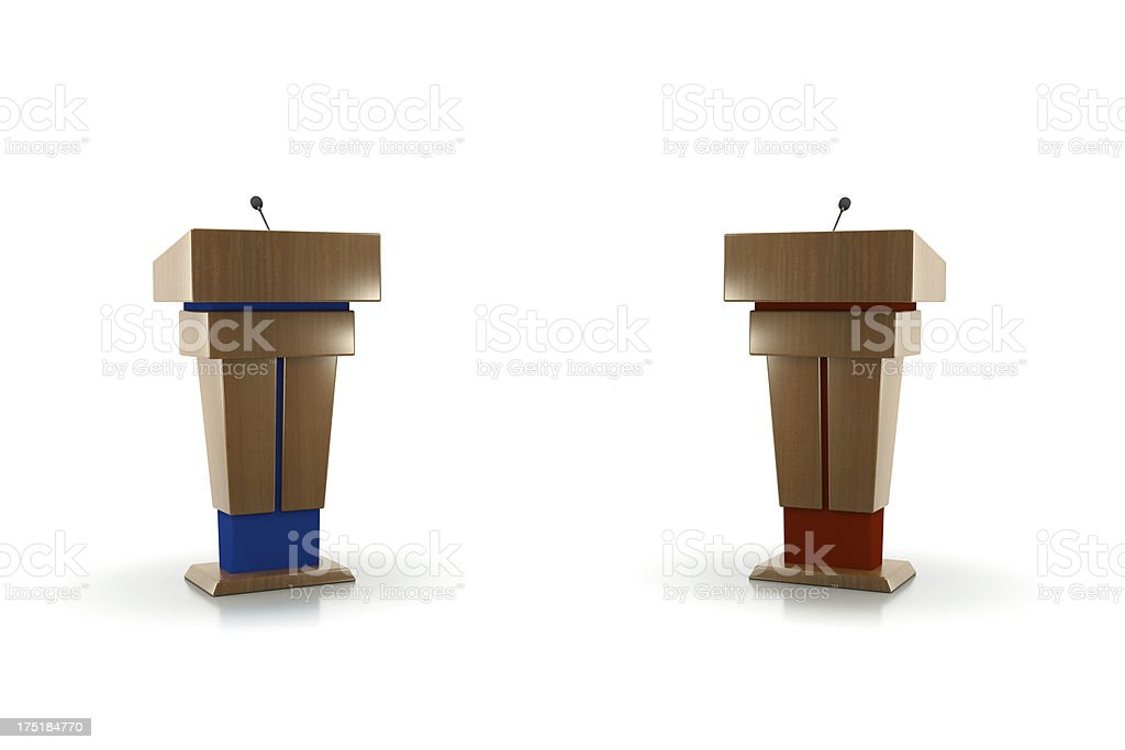 polictcal debate stock photo