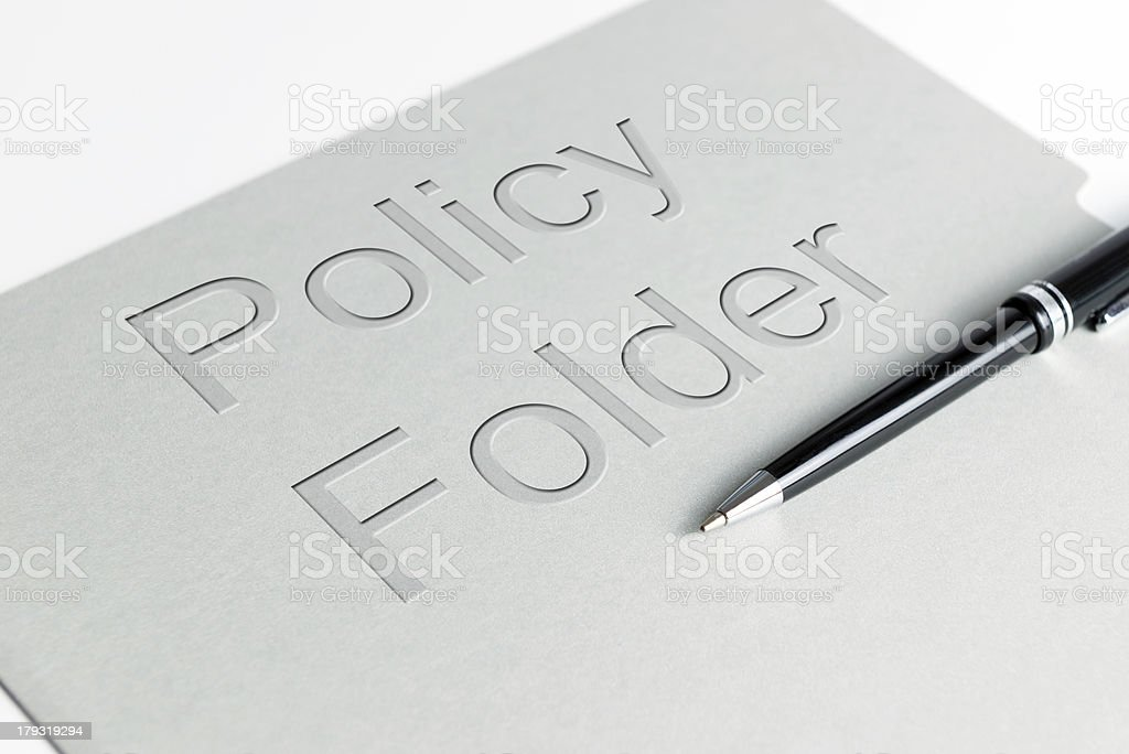 Policy holder royalty-free stock photo