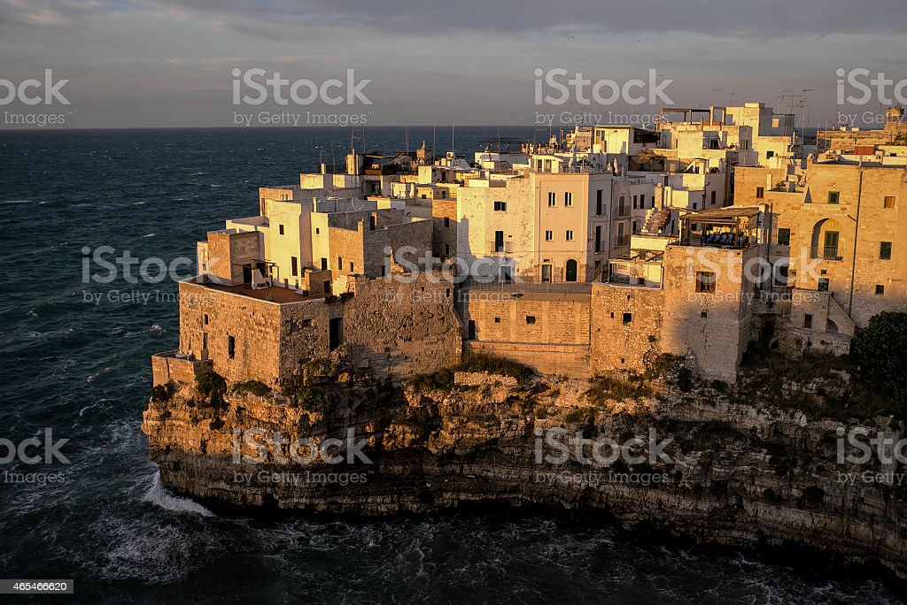Polignano A Mare at Sunset royalty-free stock photo