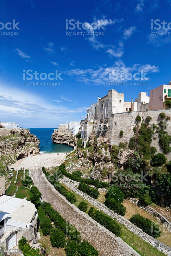 Polignano a Mare Italy stock photo