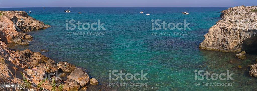 Polignano a Mare (BA, Italy) panoramic view stock photo