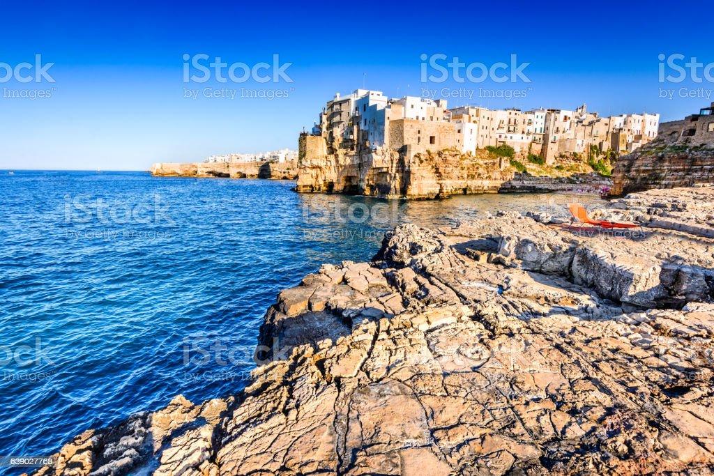 Polignano a Mare, Pulgia, Italy stock photo