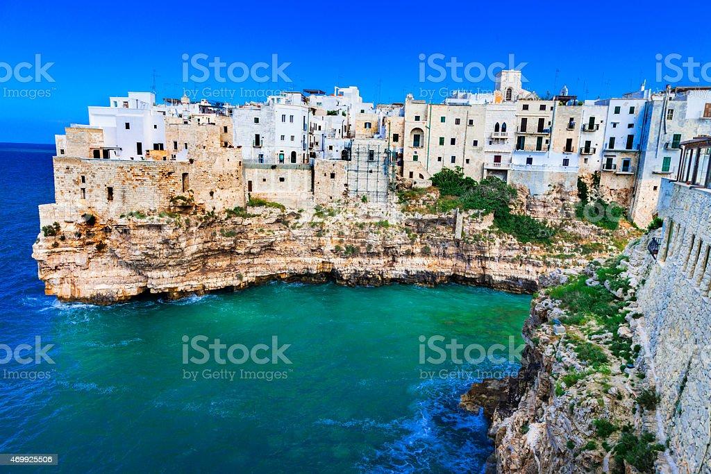 Polignano al mare, Italy stock photo