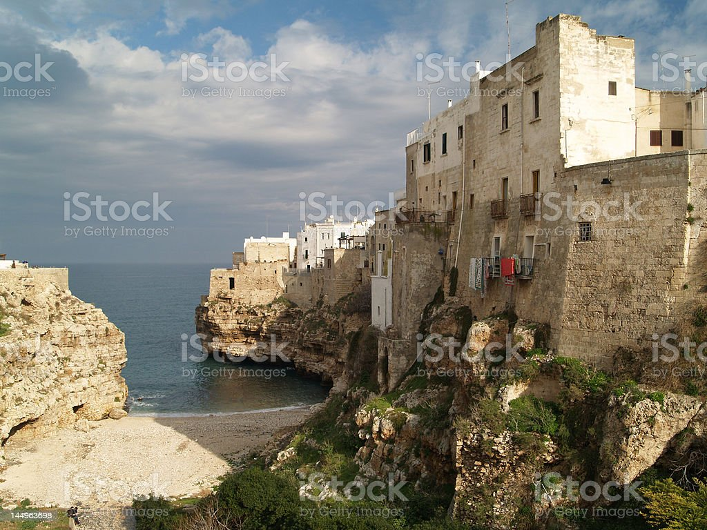 Polignano picturesque view royalty-free stock photo
