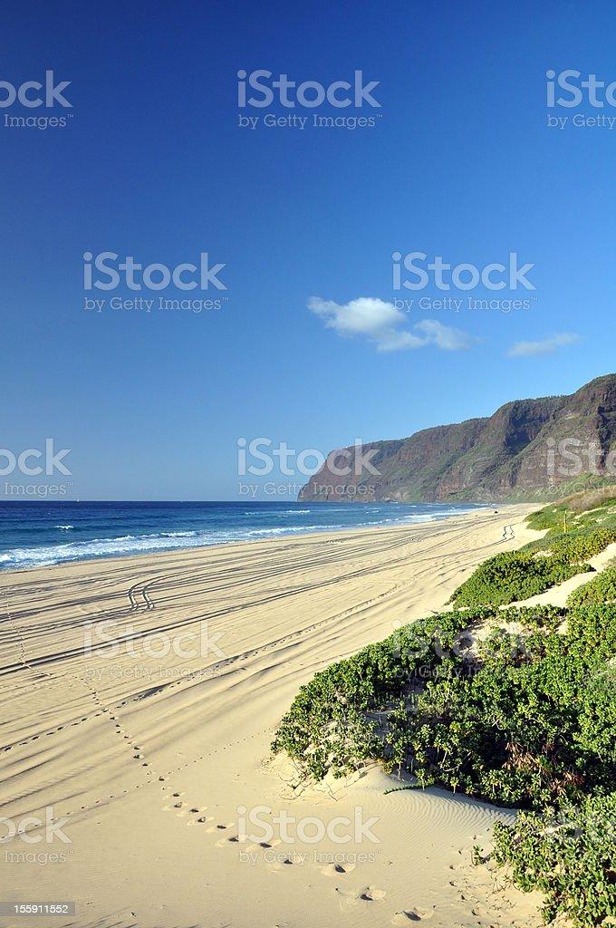 Polihale Beach - Kauai, Hawaii royalty-free stock photo