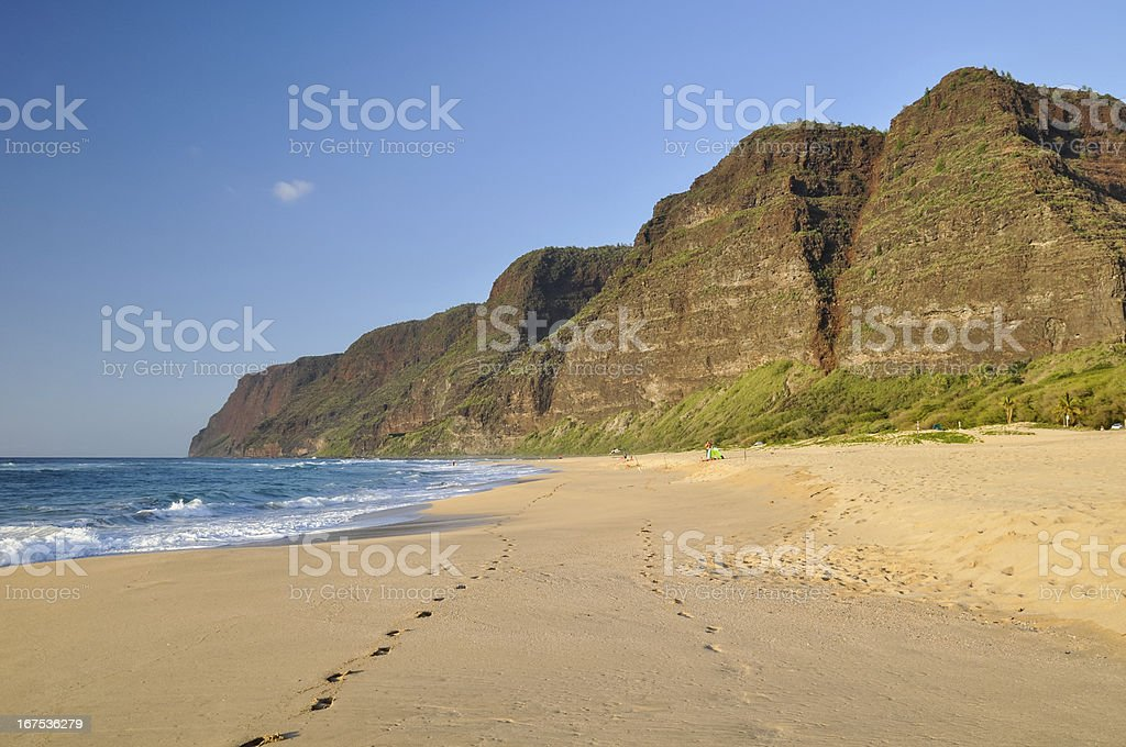 Polihale Beach - Kauai, Hawaii royalty-free stock photo
