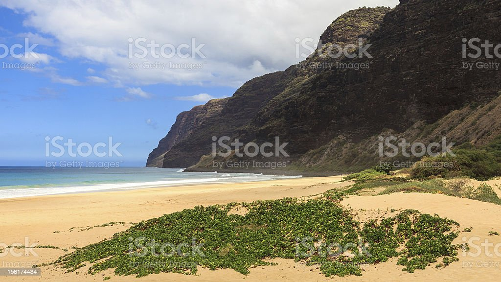 Polihale State Park royalty-free stock photo