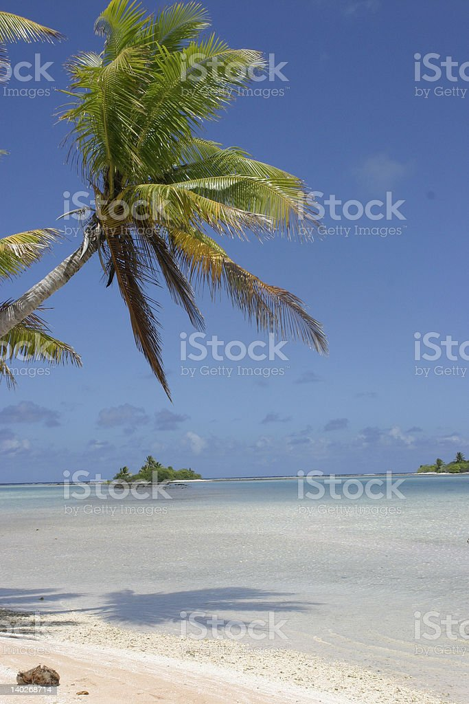Polinesia paradise beach stock photo