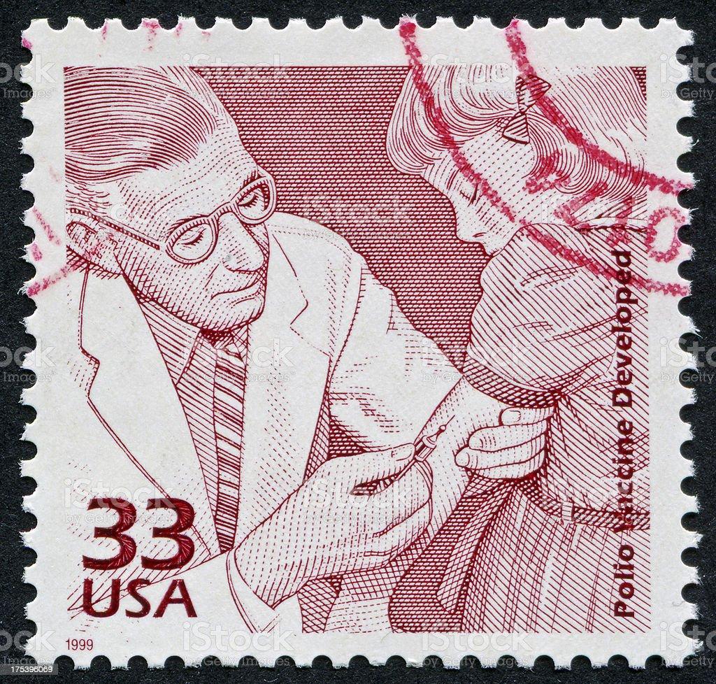 Polio Vaccine Stamp royalty-free stock photo
