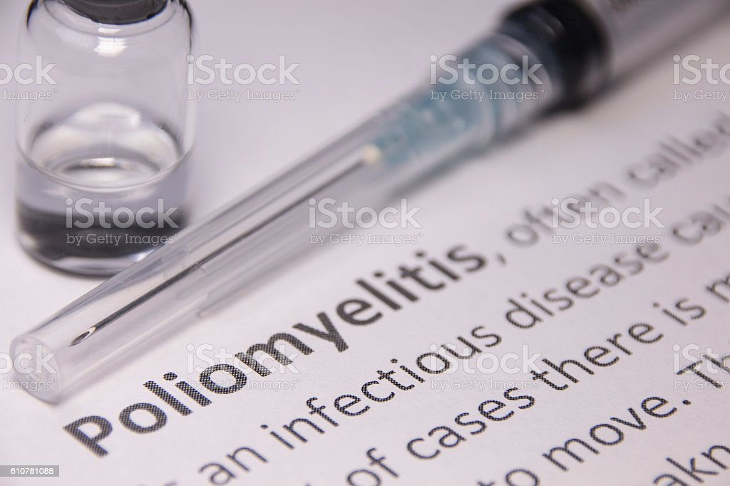 Poliomyelitis Vaccine stock photo