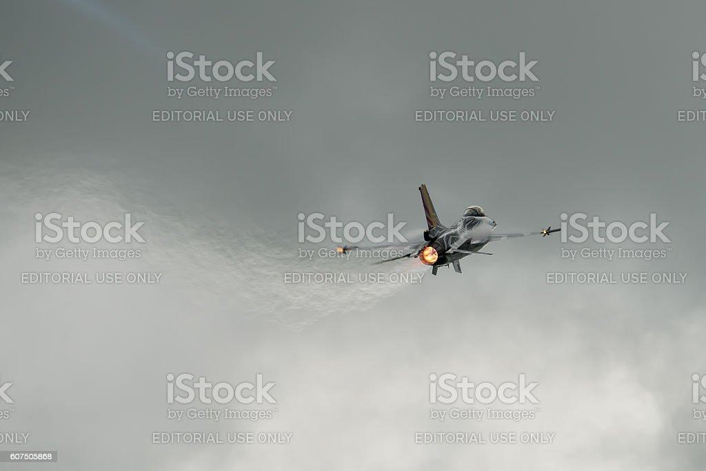 Polish Air Force F-16C stock photo