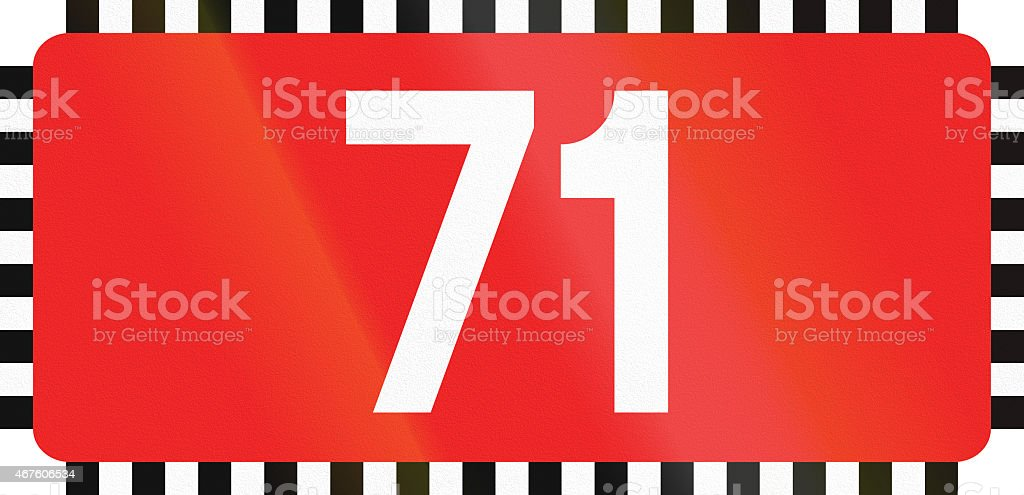Polish Direction To National Road 71 stock photo