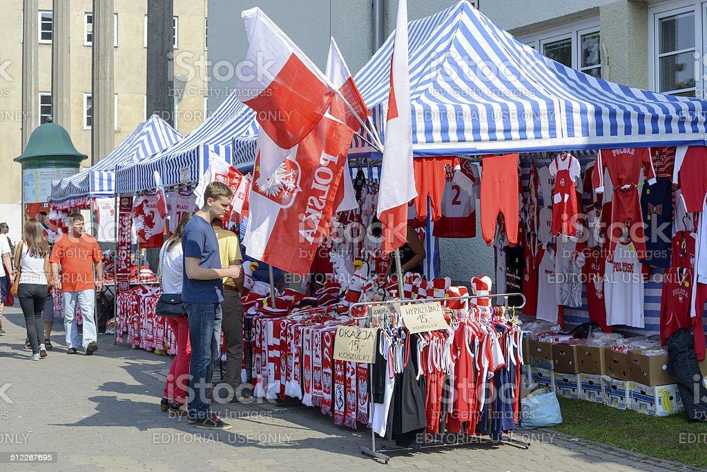 Polish fans accessories stock photo