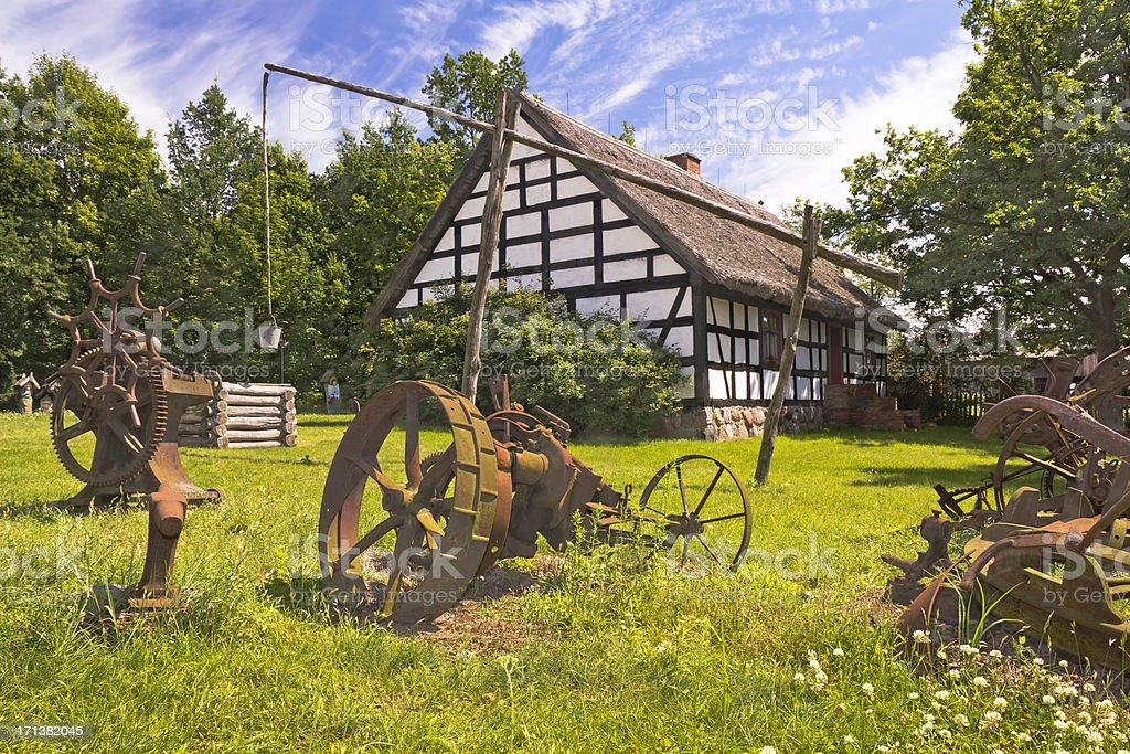Polish farm, Wielkopolska, Poland stock photo