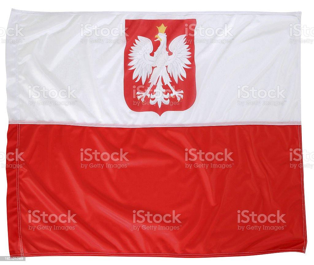 Polish flag from emblem royalty-free stock photo