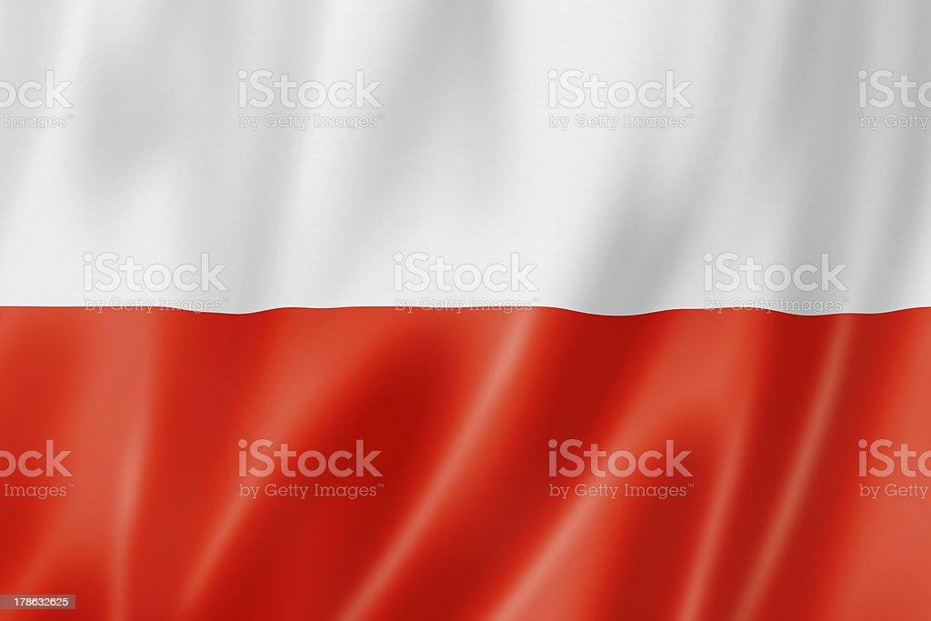 Polish flag royalty-free stock photo