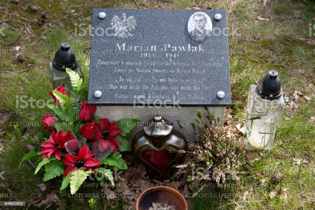 Polish grave Bergen-Belsen stock photo