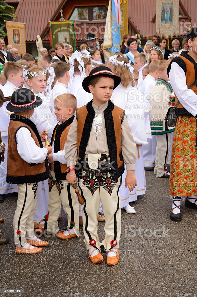 Polish hihglander kids stock photo