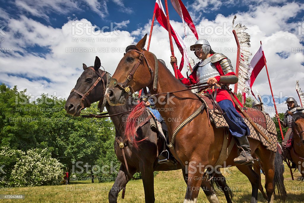 Polish hussars stock photo