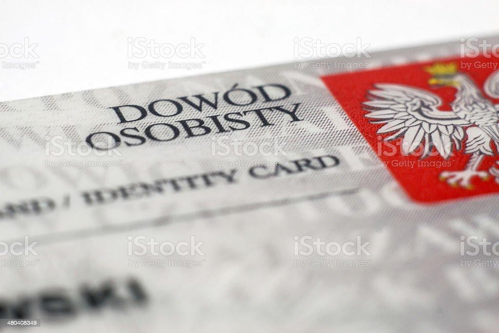 Polish identity card royalty-free stock photo
