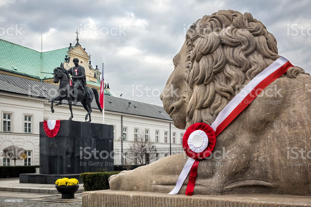 Polish Independence Day in Warsaw stock photo