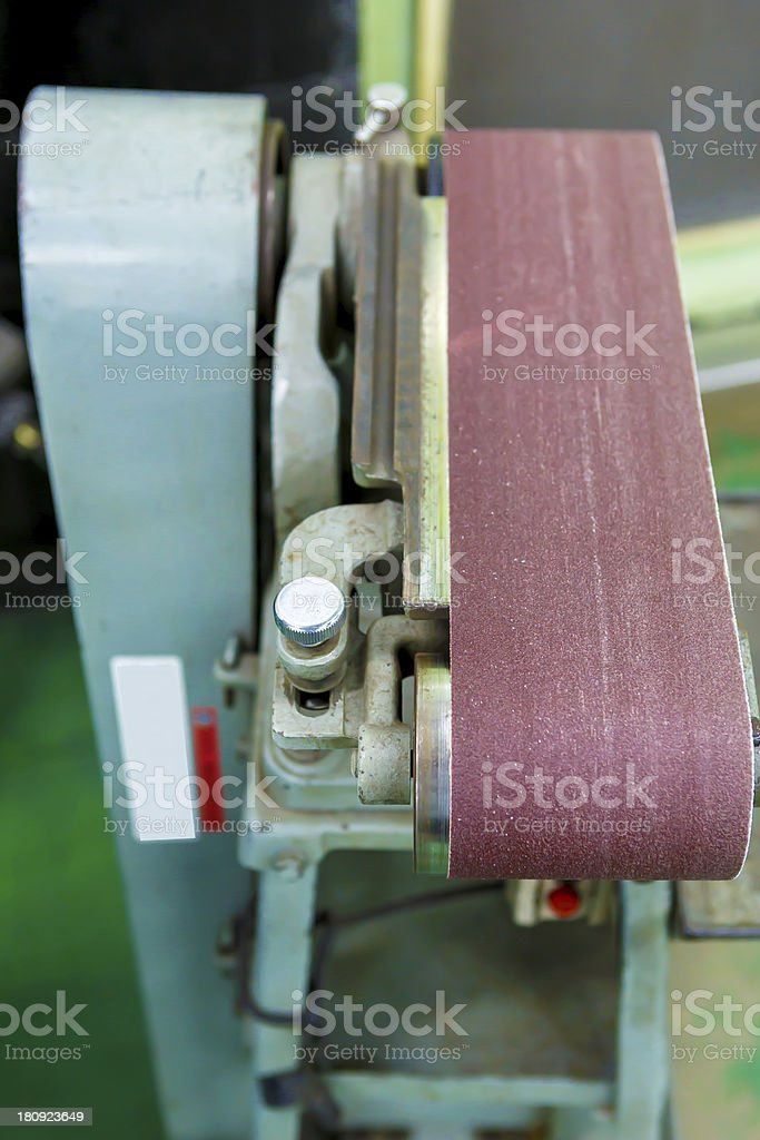 Polish machine in factory royalty-free stock photo