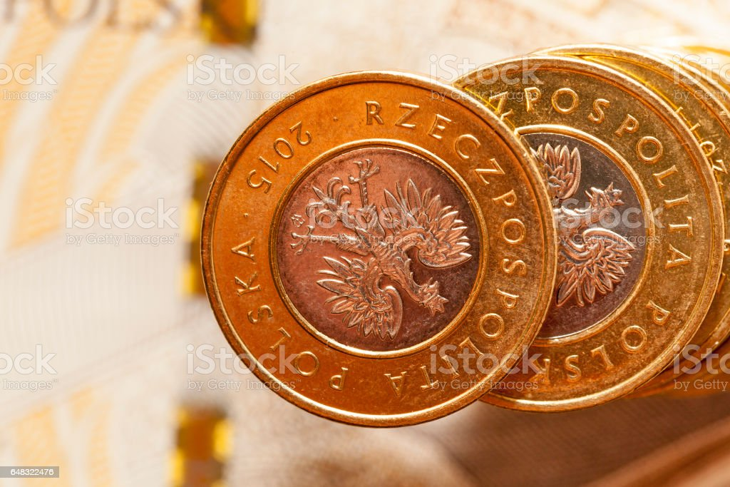 Polish money, close-up stock photo