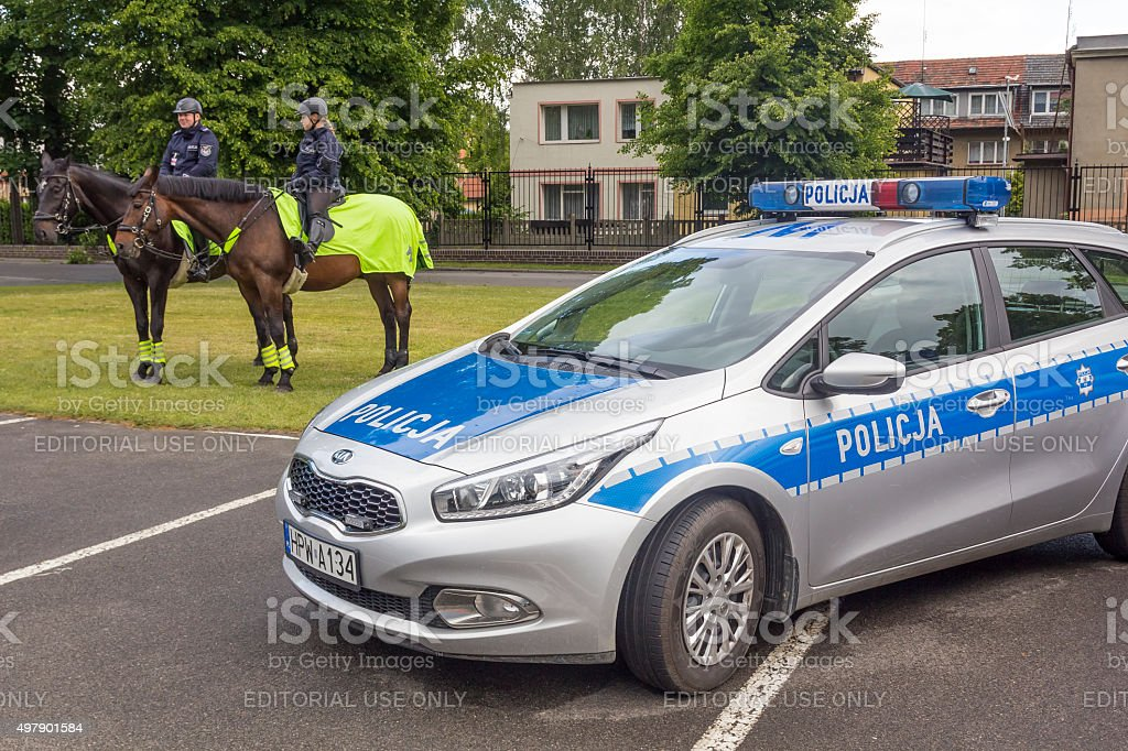 Polish mounted Police stock photo