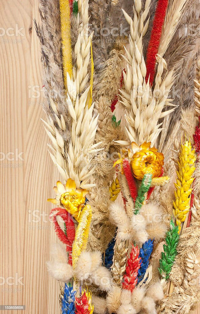 Polish Palm Sunday Easter stock photo