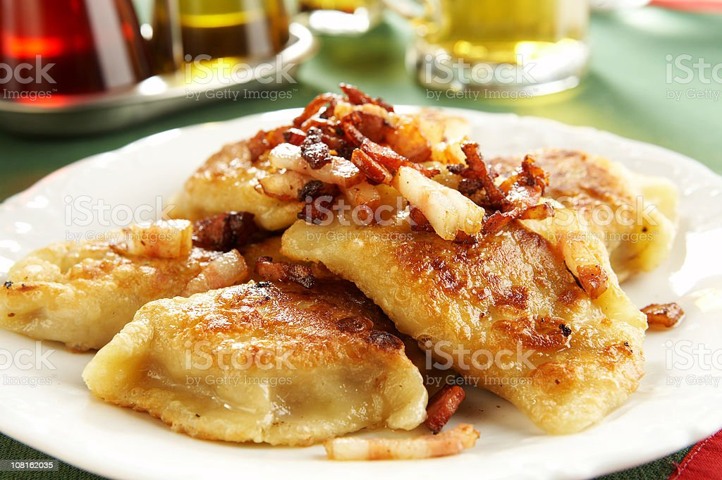 Polish pierogies royalty-free stock photo