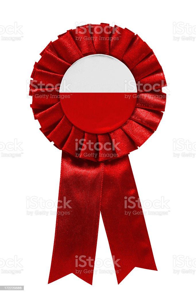 Polish ribbon stock photo