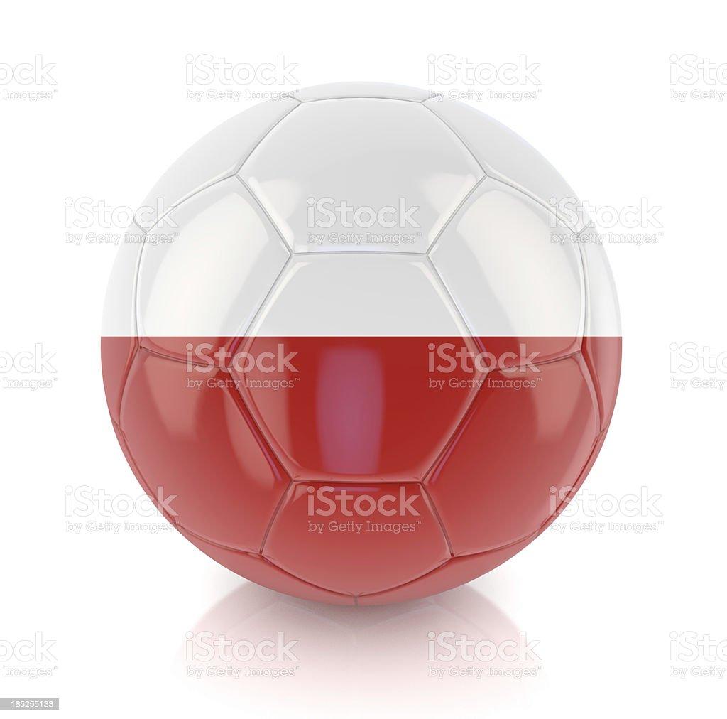 Polish Soccer Ball royalty-free stock photo