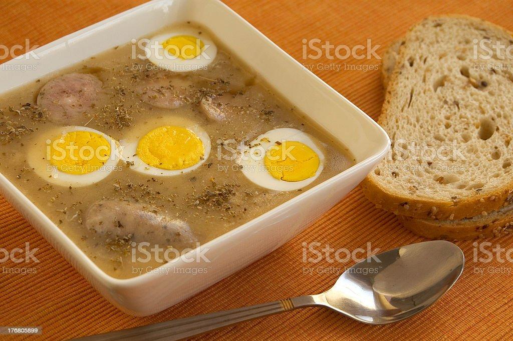 polish  soup royalty-free stock photo