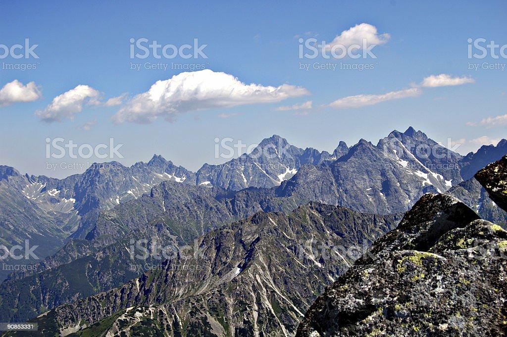 Polish Tatra Mountains stock photo