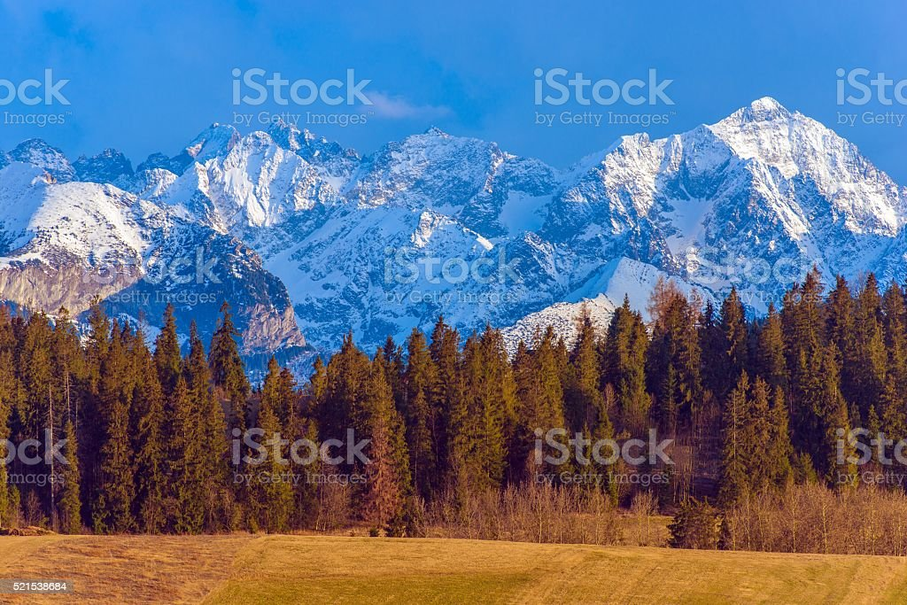 Polish Tatra Mountains Scenery stock photo