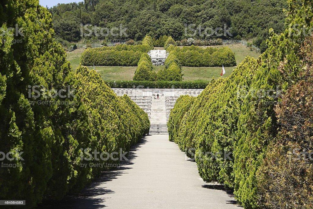 Polish war cemetry - Monte Cassino royalty-free stock photo