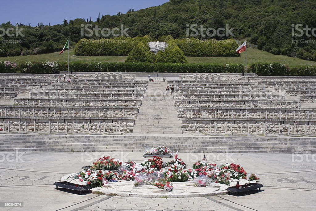 Polish war cemetry - Monte Cassino royalty-free stock photo