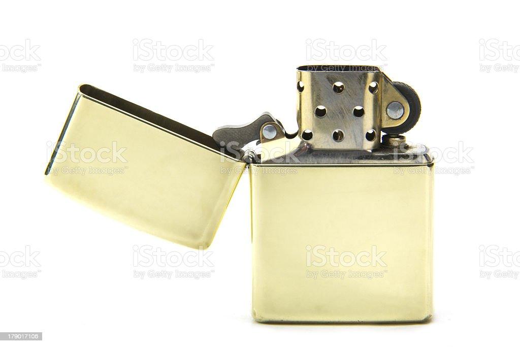 Polished Brass Lighter stock photo