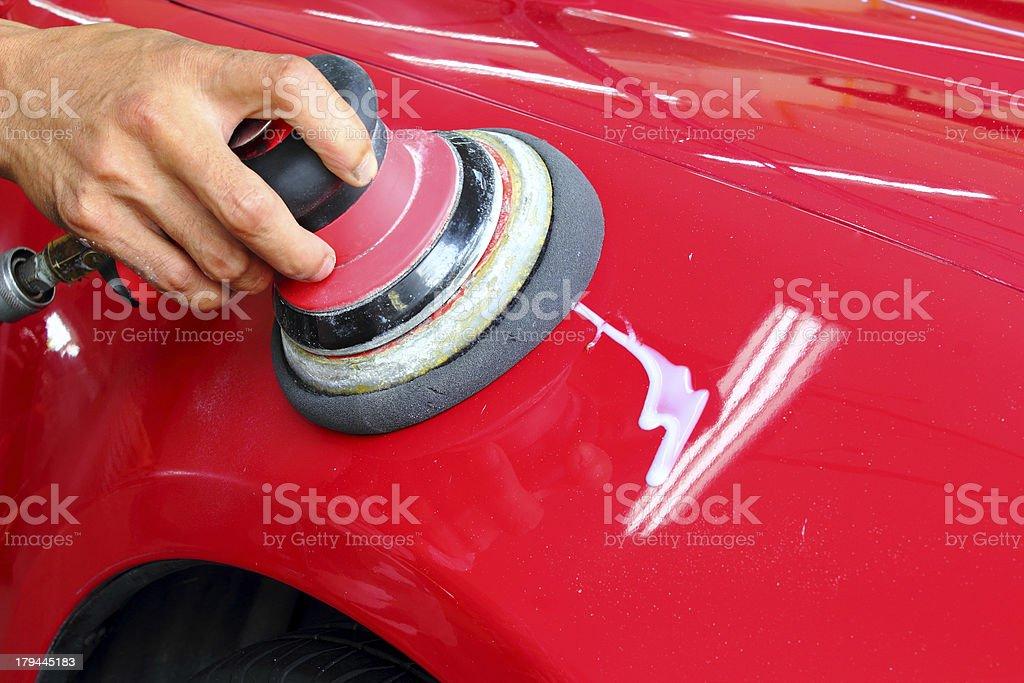 Polished car royalty-free stock photo